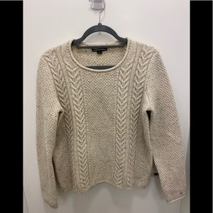 Vintage Style Flecked Cable knit Sweater M